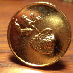 Inel hand made din jeton slovac aurit