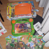 Jucarie muzicala bilingva cu 4 sabloane magnetica se poate desena sterge canta vorbeste engleza italiana - Jocuri Board games