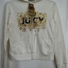 Jacheta hanorac JUICY COUTURE nou cu eticheta USA mar M-L - Jacheta dama Juicy Couture, Culoare: Alb, Bumbac