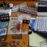 Masina tatuaje - Kit Tattoo profesional cu 1 masini si sursa digitala plus kit de 10 culori+geanta cadou, tatoo, aparat de tatuat, tattoo