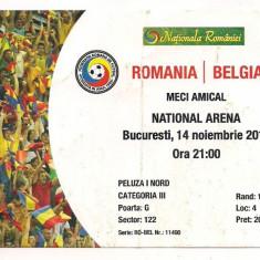 Bilet meci - Bilet de meci-ROMANIA - BELGIA 14 noiembrie 2012