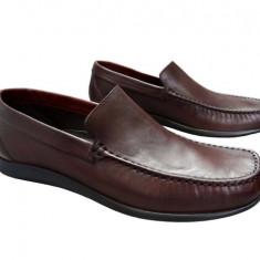 Pantofi barbati piele naturala Denis-1040-M, Marime: 42, Culoare: Maro