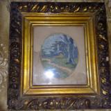 Goblen vechi de 60 de ani, in stare f buna, cu rama - Tapiterie Goblen
