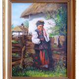 Pictura / ulei pe panza 40x30cm (fara rama) - Pictor roman, Altul, Realism