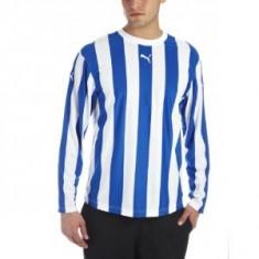 Bluza PUMA - sport - haine barbati - bluza originala Puma - maneca lunga - L - Bluza barbati Puma, Marime: L, Culoare: Albastru, La baza gatului, Poliester