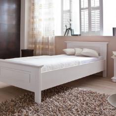 Pat dormitor - Pat de o persoana lemn masiv de rasinoase