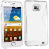Husa Samsung Galaxy S2 i9100 i9105 s2 plus + folie + stylus - Husa Telefon Samsung, Transparent, Gel TPU