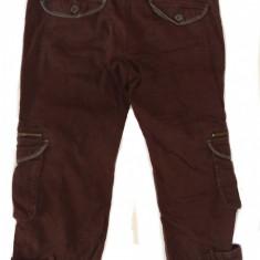 Pantaloni trei sferturi Colours of the World (42) - Blugi dama, Culoare: Maro