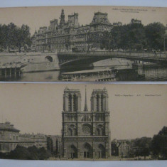 3 C.P. CU PARIS DIN ANII 1900, Franta, Necirculata, Printata