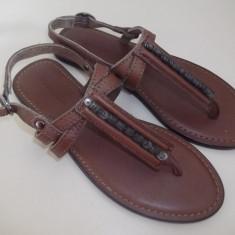 Sandale copii, Fete - Sandale Massimo Dutti piele naturala/nou