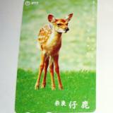 Catela telefonica - Cartela telefonica Japonia - NATURA, FAUNA, ANIMALE SALBATICE, PUI DE CAPRIOARA - 2+1 gratis toate licitatiile - RBK2351