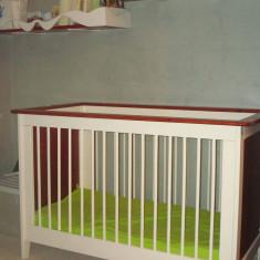 Cos bebelusi - Patut copii cu saltea si polite de perete