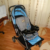Carucior copii 2 in 1 Altele - Caruciorul are 3nivele de reglare a spatarului, material impermeabil, suport pahare, sistem de pliere, cos depozitare si este in stare foarte buna