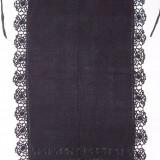 Costum populare - CATRINTA, costum popular femei, anii 1900, din bumbac cu matase, cu model din matase, dantela matasoasa, culoare negru, zona Ardeal / Transilvania Alba