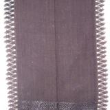 Costum populare - CATRINTA, costum popular femei, anii 1900, din bumbac, cu model din matase si dantela, culoare negru, zona Ardeal / Transilvania Alba