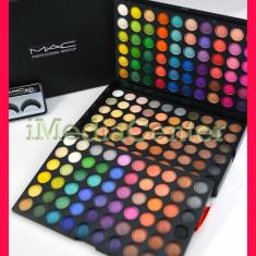 Trusa machiaj profesionala 180 culori MAC farduri mate sidefate pigmentate rezistente + CADOU : Gene false Mac Cosmetics MAC PROMOTIE! CADOUL PERFECT !