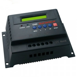 Regulator solar. Controler solar. Regulator de incarcare 12v / 24v  40A. Afisaj. Panouri fotovoltaice foto