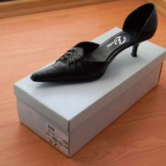 Pantofi dama negri din piele marca BATA, marimea 37 - Pantof dama Bata, Culoare: Negru, Negru