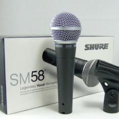 MEGA PROMOTIE 2014, PLATESTI UNUL PRIMESTI 2 ! Microfon Shure Incorporated SHURE SM58+CABLU INCLUS+NUCA STATIV+BORSETA SHURE. PROMOTIE SPECIALA!