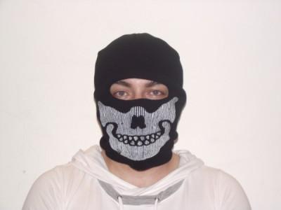Cagula craniu de culoare neagra, masca protectie fata, pentru scuter, ski, airsoft si altele foto