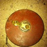 Ruleta veche 50m carcasa metal - Metal/Fonta