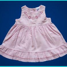 NOUA, DE FIRMA _ Rochita foarte frumoasa, catifea roz TU _ fetite   0 - 3 luni +