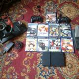 Playstation2 +9jocuri+volan cu pedale - Consola PlayStation
