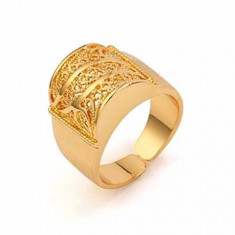 INEL AUR FILAT 9 K DAMA MODEL FILIGRAN - Inel placate cu aur
