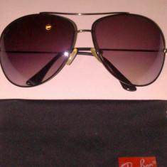 Ochelari de soare Ray Ban Aviator ORIGINALI, Unisex, Violet, Pilot, Metal, Protectie UV 100%