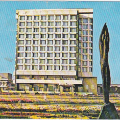 CP circulata 1983, Gheorghe Gheorghiu Dej, hotel Trotus - Carti Postale Romania dupa 1918