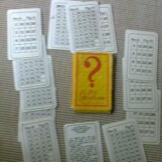 JOC GHICITOARE CARTI JOC DE COLECTIE comunist anii 80 epoca de aur hobby - Colectii