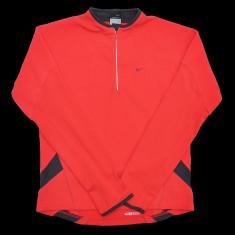 Bluza Nike Therma-Fit - Bluza barbati Nike, Marime: S, Culoare: Rosu, Poliester, Rosu