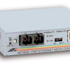Allied Telesis AT-MC102XL 100TX to 100FX (SC) standalone media converter - Media convertor