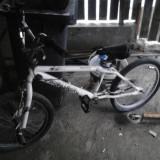 Bmx freestile - Bicicleta BMX, 12 inch, 20 inch, Numar viteze: 1, Aluminiu, Alb