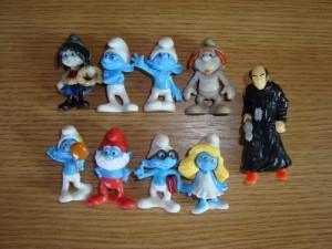Kinder- Strumfii- Strumfi- Strumpfi- The Smurfs- set complet foto