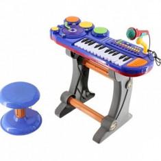 Orga pt copii cu disc DJ, microfon si scaunel (CEL MAI IEFTIN) - Instrumente muzicale copii