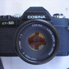 Aparat foto cu film Cosina CT 10+obiectiv Cosinon 2-50mm+capac+curea+toc, SLR, Mic