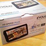 GPS Evolio HI Speed Plus 664 MHz cu tipla pe ecran instalat cu IGO Primo 2.4, 4, 3, Toata Europa, peste 32 canale, Comanda vocala, Redare audio