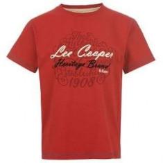 Tricou Lee Cooper nou, original - masura 13 ani - si pe albastru - Tricou barbati Lee Cooper, Marime: XS, Culoare: Rosu