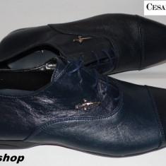 Pantofi Eleganti CESARE PACIOTTI 100% Piele Naturala - Model NOU !!! - Pantofi barbati Cesare Paciotti, Marime: 41, 42, 43, 44, Culoare: Bleumarin
