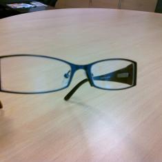 Rame ochelari vedere, marca Guess, Femei, Negru, Dreptunghiulare, Plastic, Rama intreaga