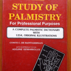 THE STUDY OF PALMISTRY FOR PROFESSIONAL PURPOSES - Comte C. de Saint-Germain - Carte Hobby Ezoterism