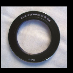 Inel adaptor din metric 42 in baioneta Rollei - Inel adaptor obiectiv foto