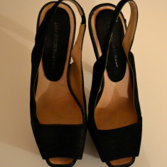 Pantofi negri de ocazie Zara - Pantof dama Zara, Marime: 38, Culoare: Negru, Negru