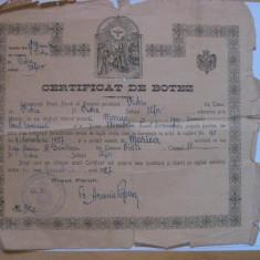 Diploma/Certificat - REDUCERE 15 LEI! CERTIFICAT DE BOTEZ DIN 1927