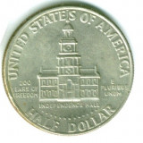 SUA 1/2 HALF DOLAR 1776 - 1976 MONETARIE D MIC  STARE FOARTE FOARTE BUNA