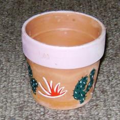 Ghiveci decorativ - ceramica pictata manual - Germania