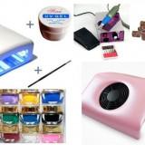 kit / set manichiura - pila electrica - lampa uv - geluri unghii - aspirator
