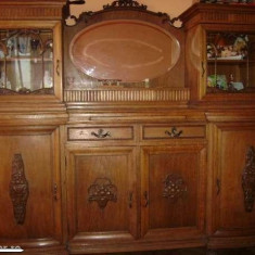 Mobilier, Altul, 1900 - 1949 - Mobila veche de sufragerie din lemn masiv