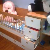 Vand patut bebelus - Pat dormitor, Simplu, Cires